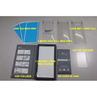 Bộ 4 miếng dán full màn hình GOR cho samsung Note 9 Note8 Note FE S10Plus S7 S7edge S8 S8plus S9 S9plus Note 10 thumbnail