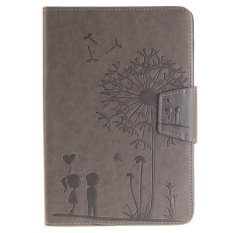 Hình ảnh Dandelion Lover PU Leather Case Flip Stand Cover for Apple iPad Mini 1 2 3 (Grey)