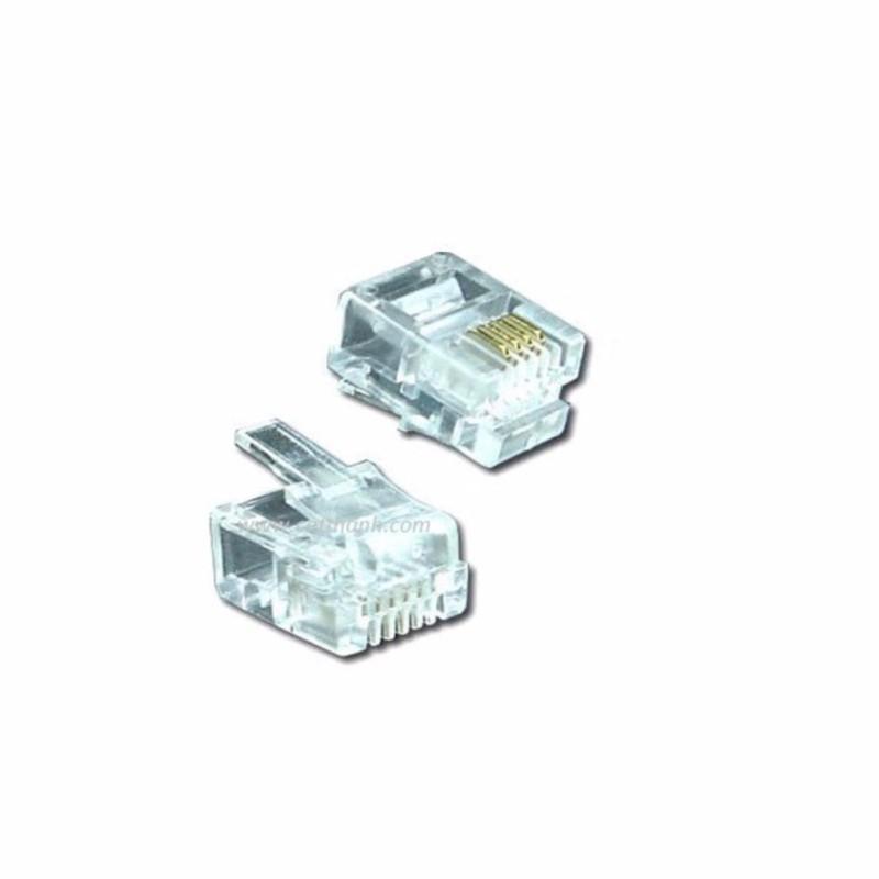 Bảng giá Đầu bấm điện thoại Rj11 (100 hạt trong 1 túi) Phong Vũ