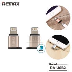 Hình ảnh Đầu chuyển đổi Cổng Micro USB sang cổng Lighning Remax RA-USB2 (Vàng)