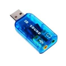 Đầu chuyển USB ra sound 2.1 âm thanh 3D Sound AUDIO DOCK (Xanh)