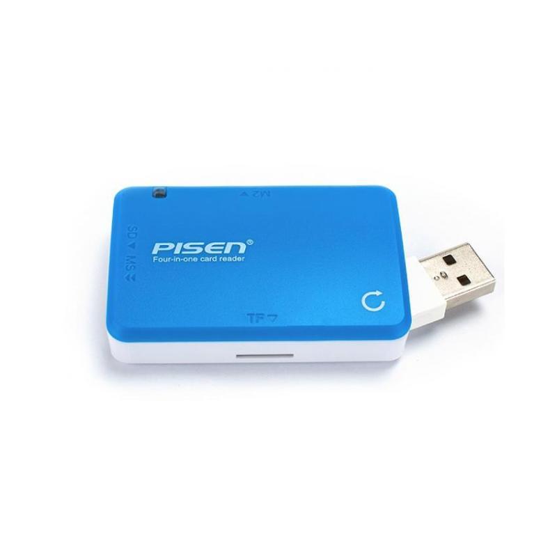 Đầu Đọc Thẻ Đa Năng Pisen 4 In 1 USB 2.0 (4 Slot)