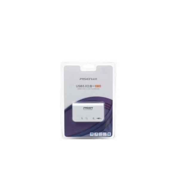 Đầu đọc thẻ đa năng Pisen All-in-one USB 3.0 - 3Slot (Trắng)