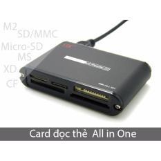 Đầu đọc thẻ nhớ đa năng (Cạc đọc thẻ all in one) SD, Micro-SD/TF,M2, CF, XD, MM, MS, MD thương hiệu SSK SCRM-025 (màu đen)