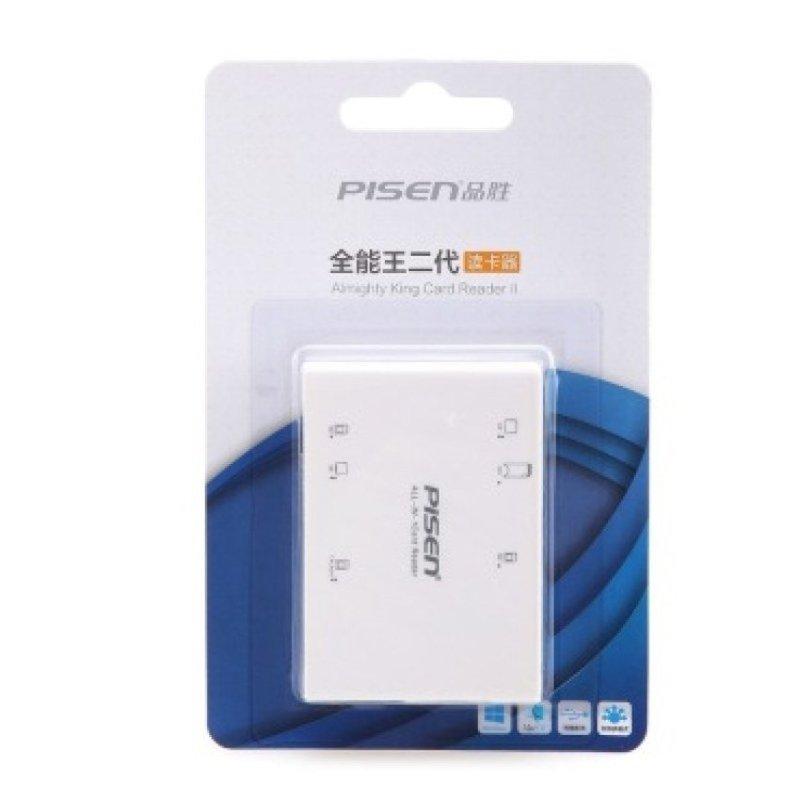 Đầu đọc thẻ nhớ Pisen All-in-1 USB 2.0 - 6Slot (Trắng)