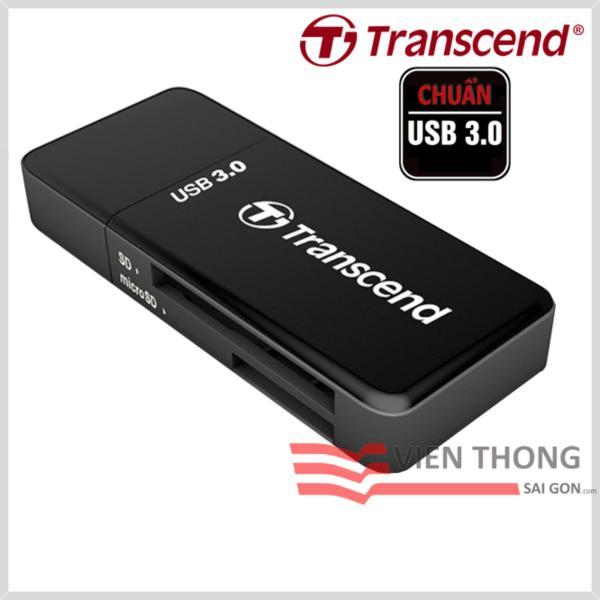 Đầu đọc thẻ nhớ Transcend RDF5K USB 3.0 (Đen) - Hãng Phân phối chính thức