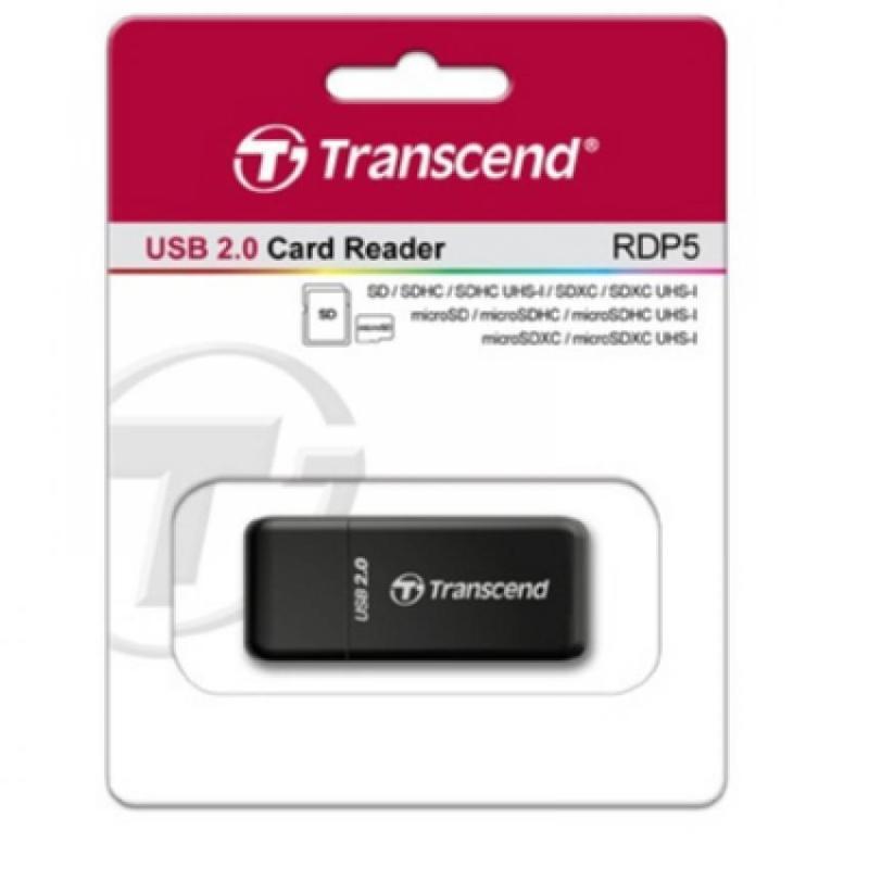 Đầu đọc thẻ nhớ Transcend RDP5 USB 2.0 (Đen)