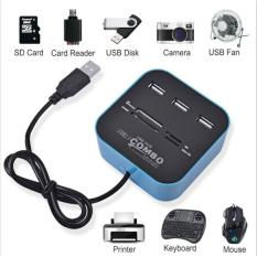 Hình ảnh Đầu đọc USB 2.0 + thẻ nhớ cho máy tính, pc laptop (màu ngẫu nhiên)