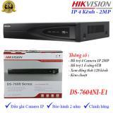 Mua Đầu Ghi Hinh Camera Ip 4 Kenh Hikvision Ds 7604Ni E1 Hồ Chí Minh