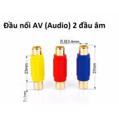 Đầu nối cáp loa AV/Audio (bông sen) 2 đầu âm