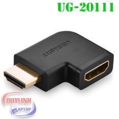 Đầu nối cổng HDMI sang HDMI vuông góc 90 độ - UGREEN 20111 - (màu đen)