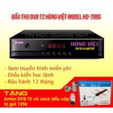 Ôn Tập Trên Đầu Thu Dvb T2 Hung Việt Hd 789S Tặng Anten Khuếch Đại Va Jack Nối