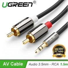 Dây Audio 3,5mm ra 2 đầu RCA (Hoa sen) dài 1,5M UGREEN AV116 10583 - Hãng phân phối chính thức