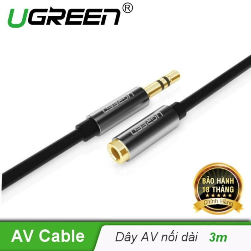 Dây AV nối dài 3.5mm đầu mạ vàng dài 3m UGREEN AV118 10595 - Hãng phân phối chính thức