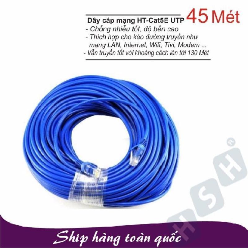 Bảng giá Dây cáp mạng LAN 45 Mét HT-CAT5E UTP - (Đã có 2 đầu) Phong Vũ