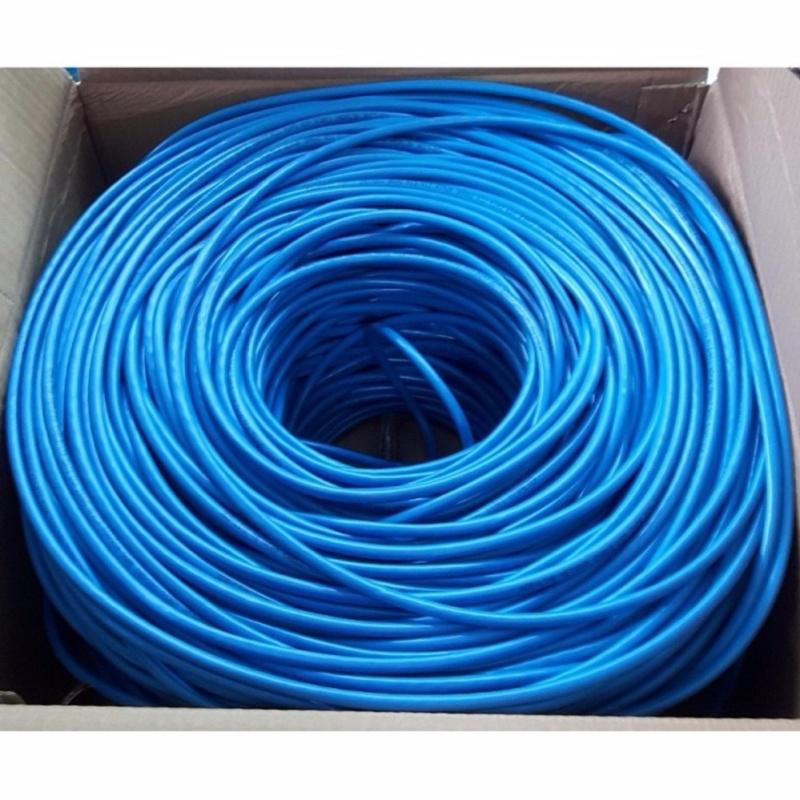 Bảng giá Dây cáp mạng CAT6E UTP bấm sẵn 2 đầu 110 Mét (Trắng, xanh - Mới 100%) Phong Vũ