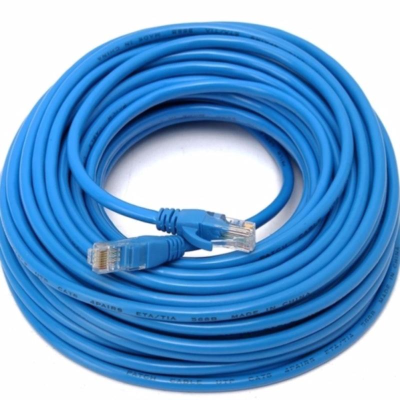 Bảng giá Dây cáp mạng CAT6E UTP bấm sẵn 2 đầu 25 Mét (Trắng, xanh - Mới 100%) Phong Vũ