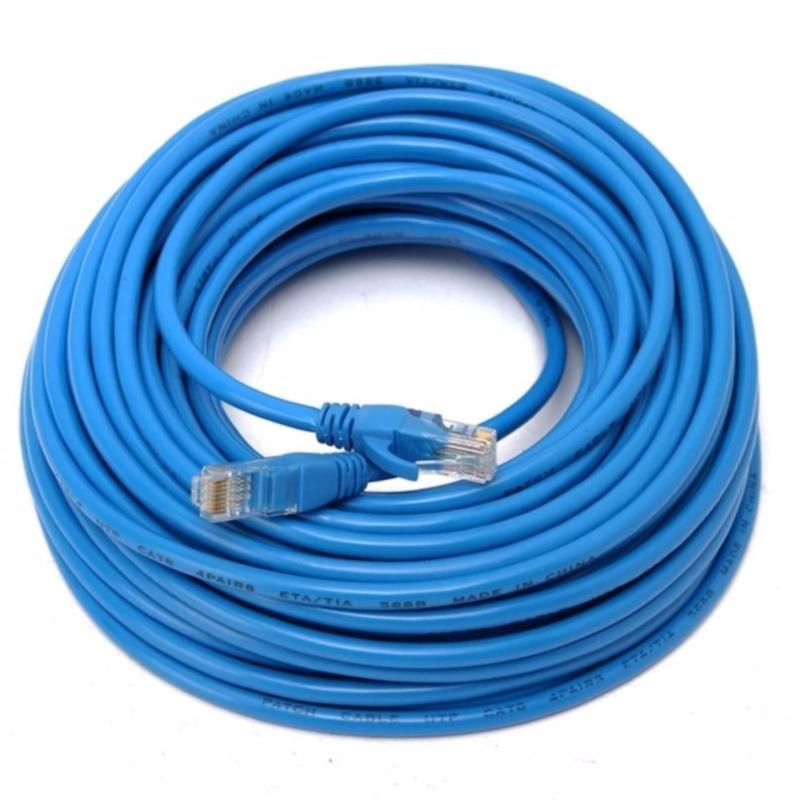 Bảng giá Dây cáp mạng CAT6E UTP bấm sẵn 2 đầu 65 Mét (Trắng, xanh - Mới 100%) Phong Vũ