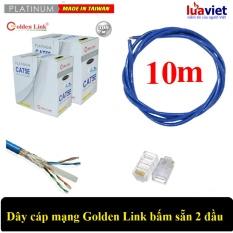 Bảng giá Dây cáp mạng Golden Link SFTP Cat 5E bấm sẵn 2 đầu 10m (Xanh Dương) - made in Taiwan Phong Vũ