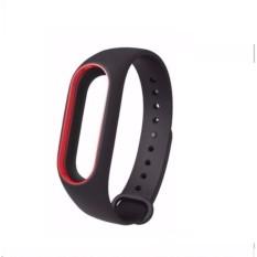 Hình ảnh Dây đeo Silicon thay thế cho miband 2 (Màu đen viền đỏ)