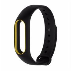 Hình ảnh Dây đeo Silicon thay thế cho miband 2 (Màu đen viền vàng)