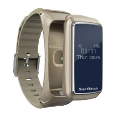 Dây đeo theo dõi sức khỏe, tích hợp bluetooth, đồng hồ cao cấp B2 (Đen) + Pin sạc dự phòng 2600mAh