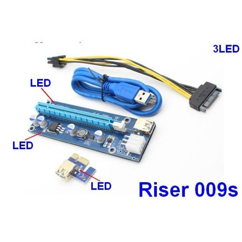 DÂY RISER PCIe 1X TO 16X USB 3.0 VER 009S