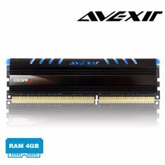 Bán Ram May Tinh Ddr3 Avexir 4Gb Bus 1600 Tản Nhiệt Co Đen Led Xanh Blue