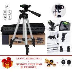 Bán Đế Chụp Hinh 3 Chan Tripod 3110 Tặng 1 Lens Camera 3 In 1 1 Remote Chụp Hinh Bluetooth Oem Trực Tuyến