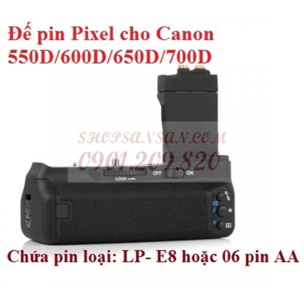 Đế Pin Pixel Cho Canon 550D/600D/650D/700D- Sansan