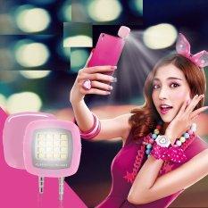 Đèn 16 bóng led hỗ trợ ánh sáng chụp hình, chụp hình trên điện thoại H61-HỒNG