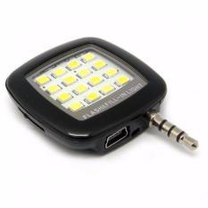 Hình ảnh Đèn flash 16 bóng led hỗ trợ ánh sáng cho điên thoại (Đen)