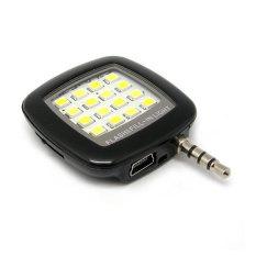 Đèn flash 16 bóng led hỗ trợ chụp hình cho điện thoại (Đen)