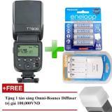 Giá Bán Đen Flash Godox Tt600 Cho Canon Nikon Sony Pentax Gn60 Hss 1 8000S Remote 2 4Ghz Kem 4 Pin Eneloop Va 1 Sạc Sanyo Tặng Kem Tản Sang Omni Bouce Nguyên