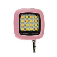 Hình ảnh Đèn LED hỗ trợ chụp hình điện thoại 16 bóng VNR ( hồng )