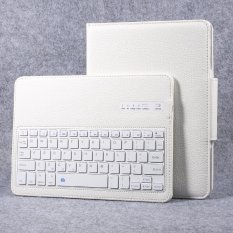 Hình ảnh Detachable Wireless Bluetooth Keyboard Litchi Leather Cover Stand for iPad 9.7-inch (2017) - White