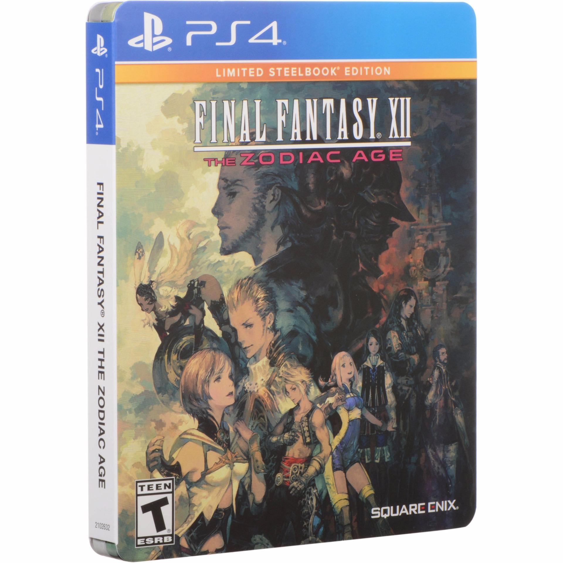 Đĩa Game Ps4 Final Fantasy Xii: The Zodiac Age Steelbook