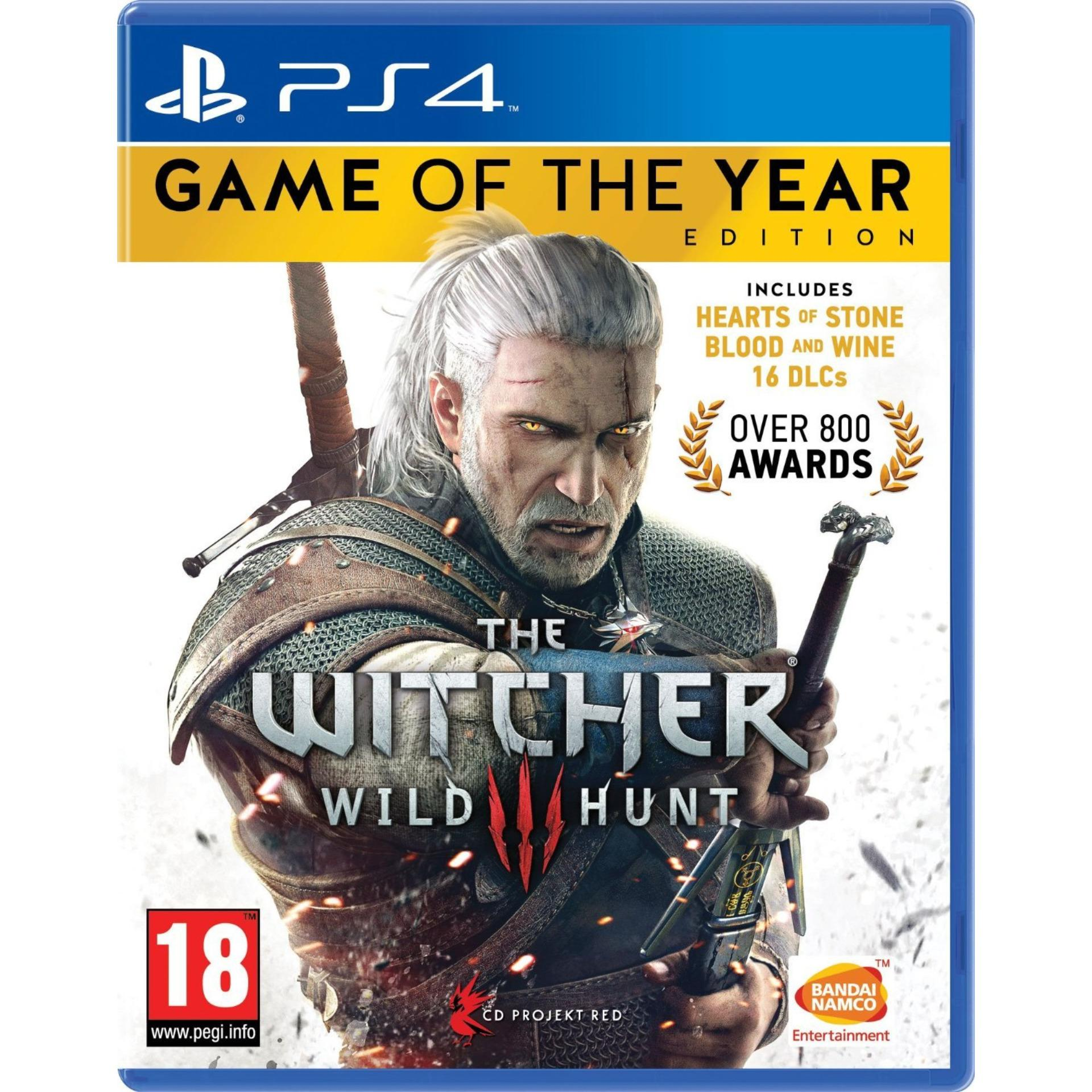 Đĩa Game Ps4: The Witcher 3 Game Of The Year