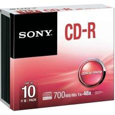 Hình ảnh Đĩa SONY CD-R 700MB VỎ MỎNG 1-1/HỘP 10c