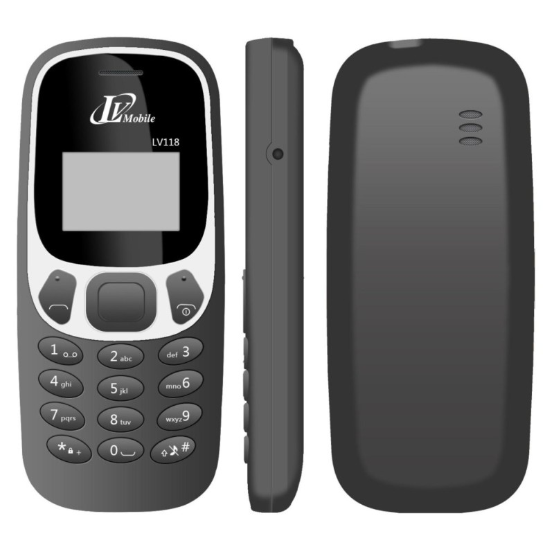 Điện thoại LV118 New - 1 SIM - Màn Hình Trắng Đen