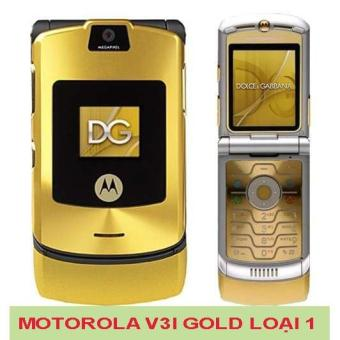 Điện thoại motorola v3i zin (vàng) tặng sim 10 số