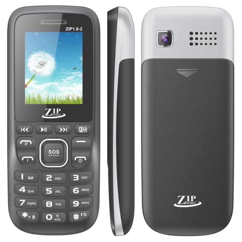 Điện thoại Zip1.8-2 2sim ( Đen)- Hàng nhập khẩu