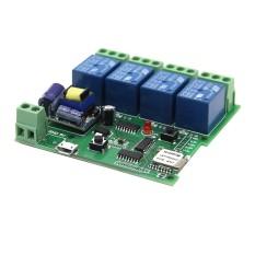 Hình ảnh DIY AC 55V~250V 4-Channel Jog/Inching WiFi Wireless Smart Switch - intl