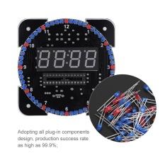 Hình ảnh DIY Light Control Rotation Digital LED Electronic Temperature Clock Kit Suite W/USB Cable Green - intl