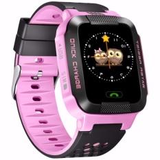 Đồng hồ định vị trẻ em GPS Tracker Y21G mới nhất (Hồng)