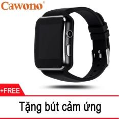 Đồng hồ thông minh Cawono X6 Màn hình Cong Đen Free 1 bút cảm ứng