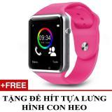 Giá Bán Đồng Hồ Thong Minh Hỗ Trợ Sim Điện Thoại Smartwatch A1 Hồng Tặng 1 Đế Hit Gia Đỡ Con Heo Mới Rẻ
