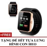 Bán Mua Đồng Hồ Thong Minh Hỗ Trợ Sim Điện Thoại Smartwatch Gt08 Vang Đồng Tặng 1 Đế Hit Gia Đỡ Con Heo