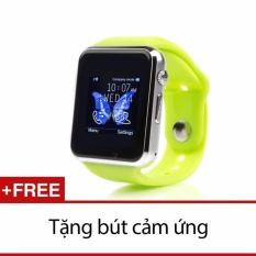 Bán Đồng Hồ Thong Minh Inwatch C Plus 2017 Mau Xanh La Tặng But Cảm Ứng Nhập Khẩu