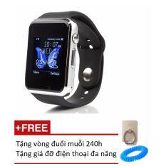 Ôn Tập Đồng Hồ Thong Minh Smart Watch A1 Gắn Sim Độc Lập Đen Tặng 1 Vong Đuổi Muỗi 240H Va 1 Gia Đỡ Điện Thoại
